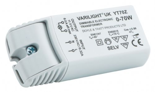 Varilight YT70Z Lighting Transformer 0-70VA Dimmable Low Voltage (with Terminals)
